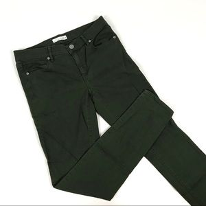 Loft Forest Green Skinny Jeans Size 2